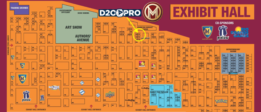 GenCon 2016 Exhibit Map