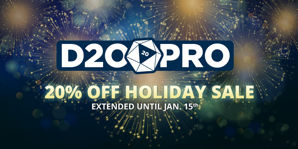 D20PRO 2016 Holiday Sale