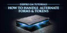 How to Handle Effects Like Polymorph or Wild Shape with Alternate Form Tokens