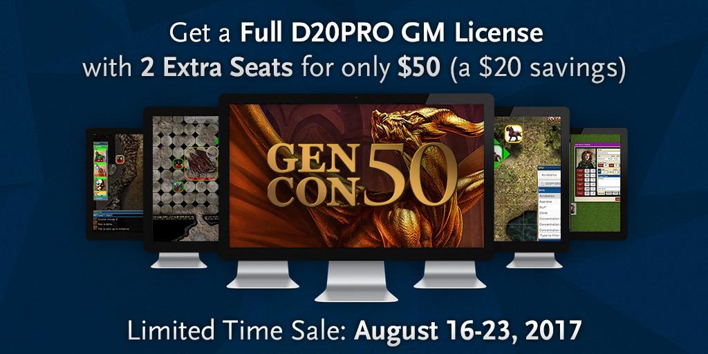 D20PRO Gen Con Sale