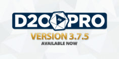 D20PRO Version 3.7.5 Now Available (9/2/2018)