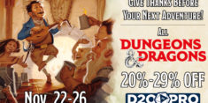 D20PRO Thanksgiving Sale