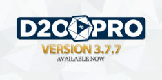 D20PRO Version 3.7.7 Now Available