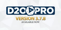 D20PRO Version 3.7.8 Now Available