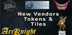 New Vendors, Tokens, and Tiles