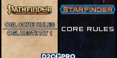 Pathinder OGL Core Rules, Bestiary, and Starfinder