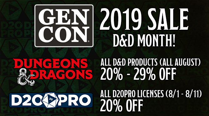 August Sale and D&D Month