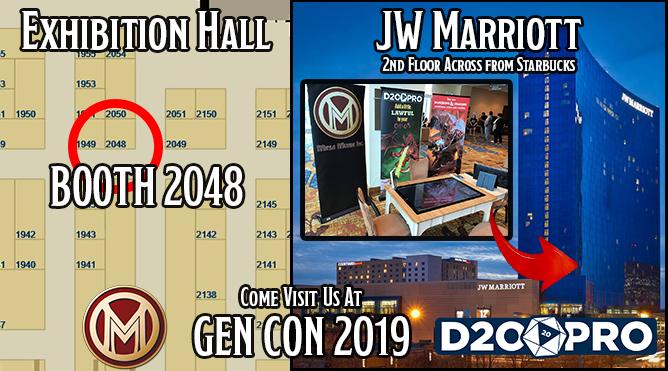 D20PRO Gen Con locations